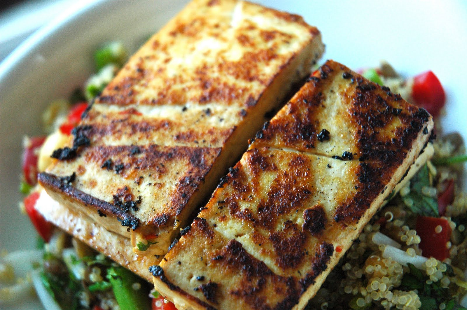 Seared Tofu With With Green Beans And Asian Coconut Sauce Recipes ...