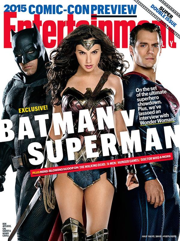 Portada EW Batman V Superman + Wonder Woman