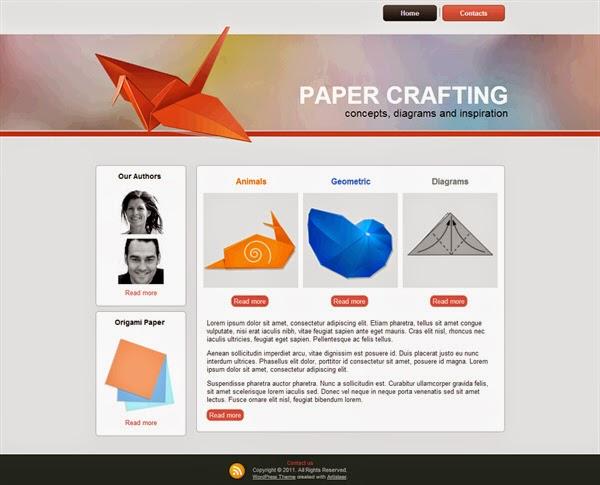 Paper Crafting - Free Wordpress Theme