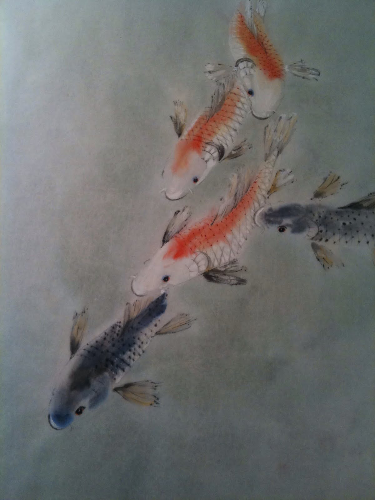 Chinese brush art american style 10 000 brush strokes for Perfect koi
