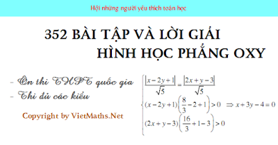 352 bai tap hinh hoc phang oxy co loi giai chi tiet thi thpt quoc gia 2016