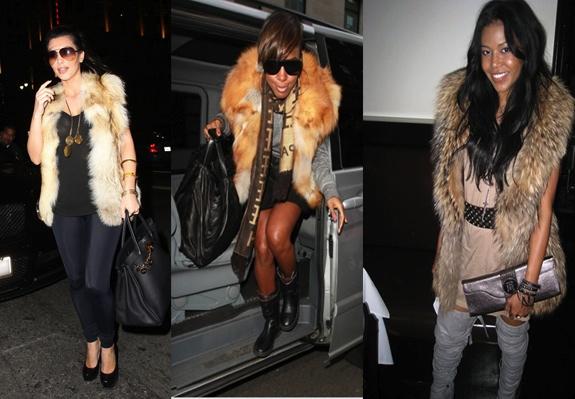 a93d5a7b987 Check out celebrities wear the fur vest trend