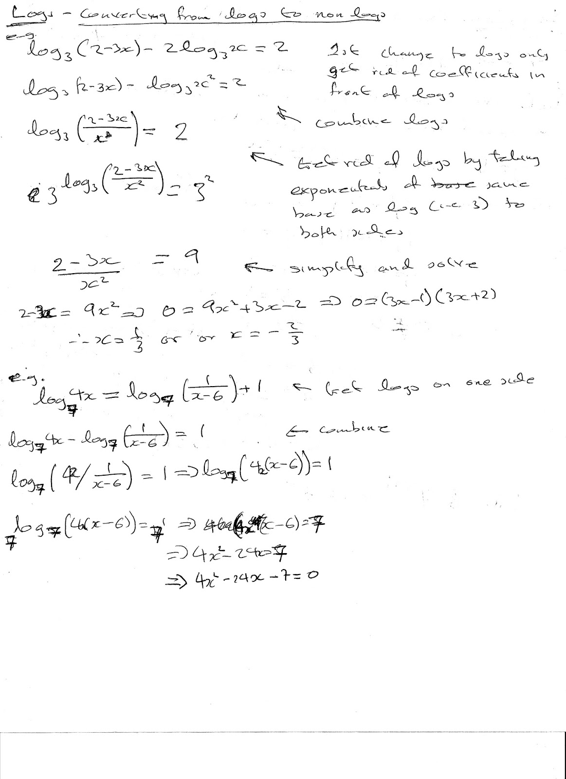 worksheet Exponential Equations Not Requiring Logarithms similiar exponential equations without solving logarithms keywords level maths notes log and equations