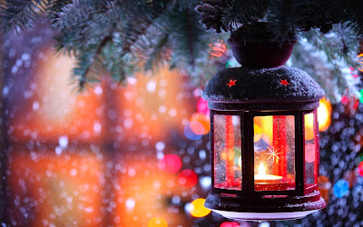 Papel de Parede Lâmpada de Natal para pc christmas candle wallpaper free