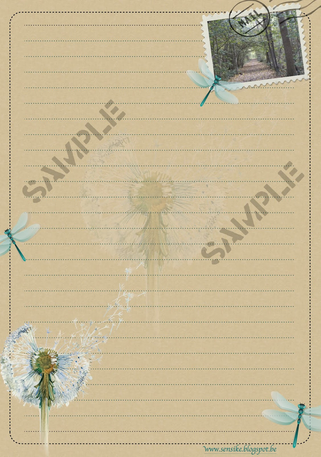 briefpapier dragonfly beige, stationery