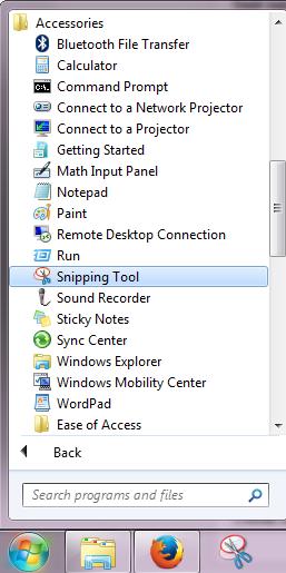 cara meluncurkan snipping tool
