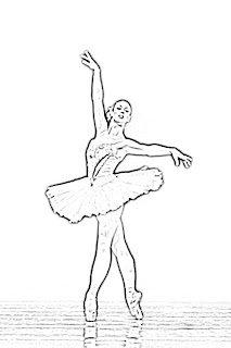 Ballet Dancer Girl Sketch