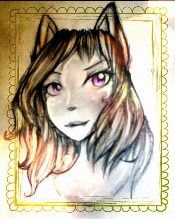 """Un dibujo de mi Elina!!! :DD Este """"regalo"""" fue gracias a un ArtTade que hice con Estrella nwn"""