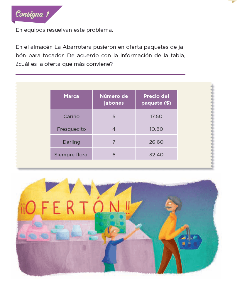Respuestas ¿Cuánto cuesta un jabón? - Desafíos matemáticos 6to Bloque 5to 2014-2015