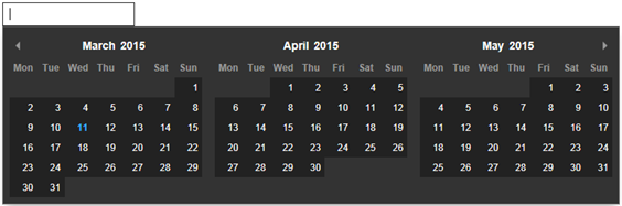 javascript calendar date picker code for asp net