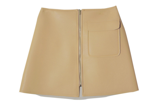 Center Zip Mini Skirt