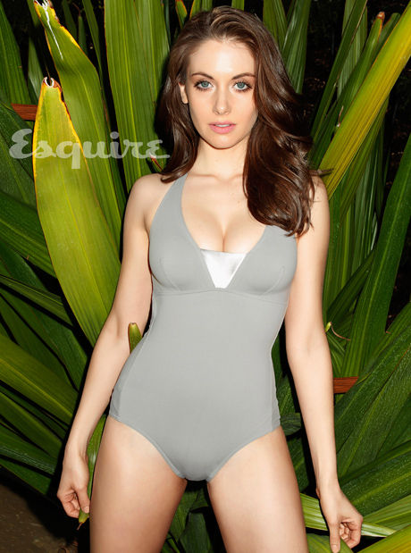 Alison Brie in Swimsuit ! Very Hot - Esquire magazine May 2013