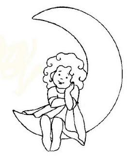Desenhos Para Colori menina animada  desenhar