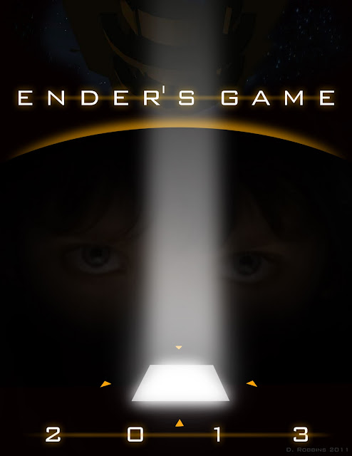 Ender's Game Movie Poster with Asa Butterfield and teh Battle School