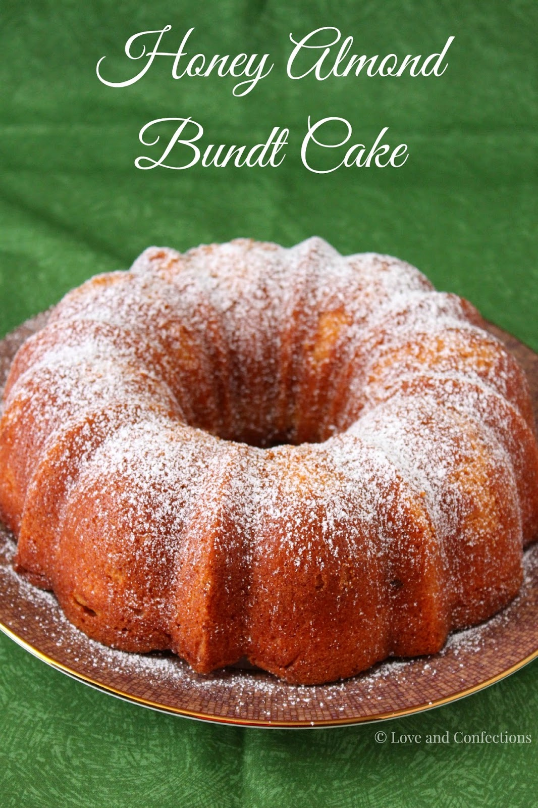 Honey Almond Bundt Cake is perfect for an afternoon tea. The honey and ...
