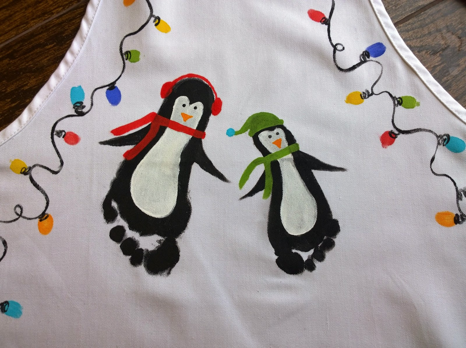 White apron hobby lobby - I Picked Up A Couple Of White Aprons From Hobby Lobby To Decorate All The Boys Had To Do Was Sit Still For A Black Footprint And I Painted The Details On