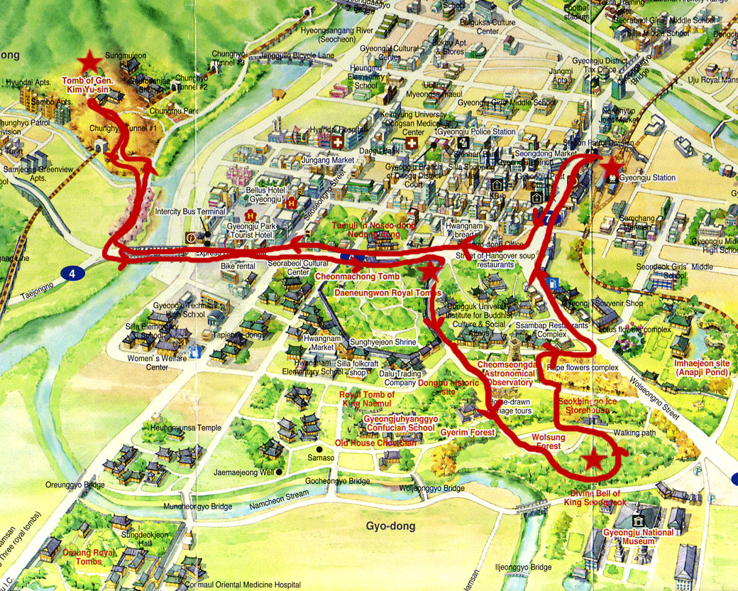 Tourist Map Of Gyeongju, Check Out Tourist Map Of Gyeongju ...