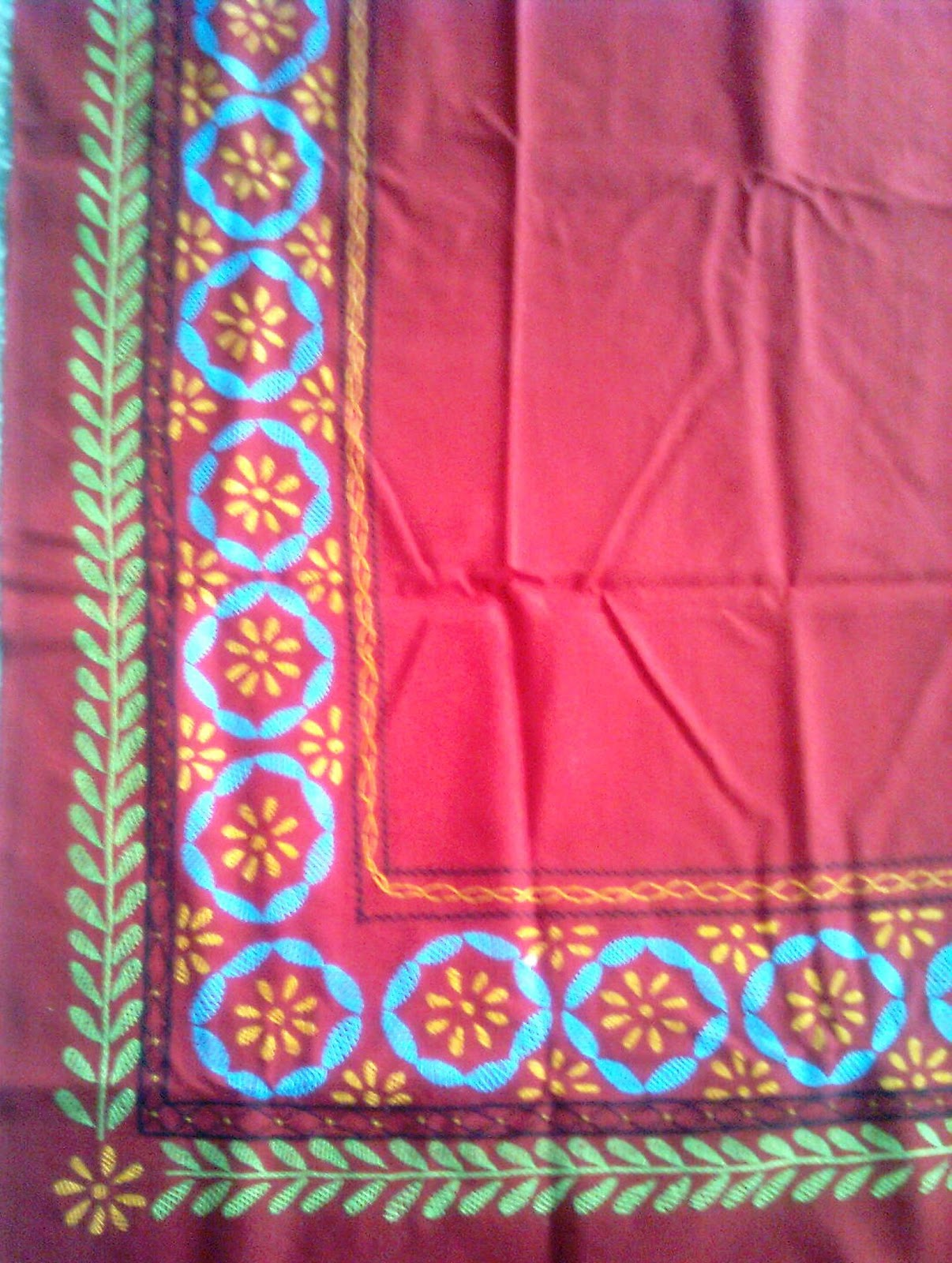 Creative patterns hand embroidery on bed sheet for Bed sheet design images