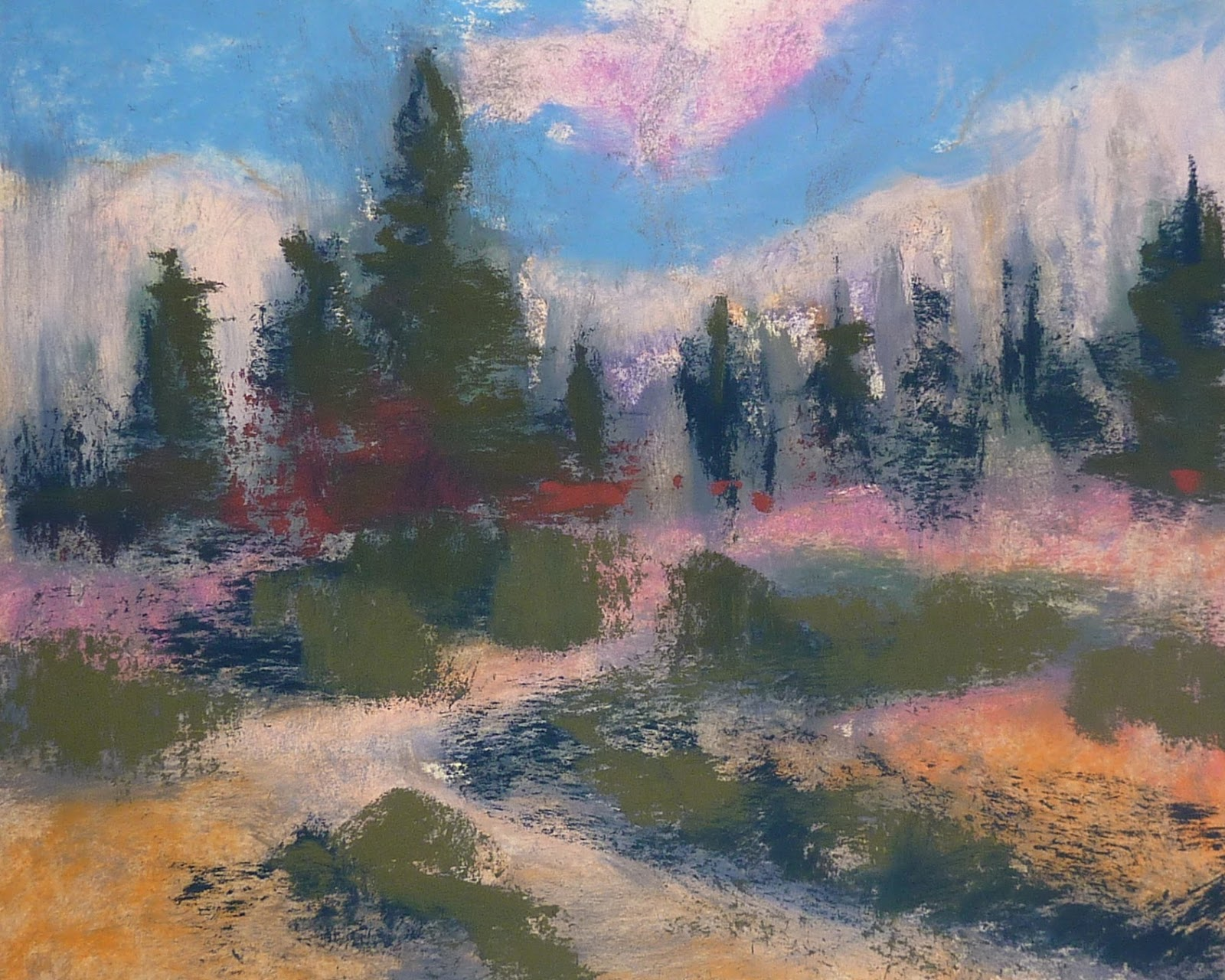 Painting My World: Pastel Demo....Colorado Landscape with ...