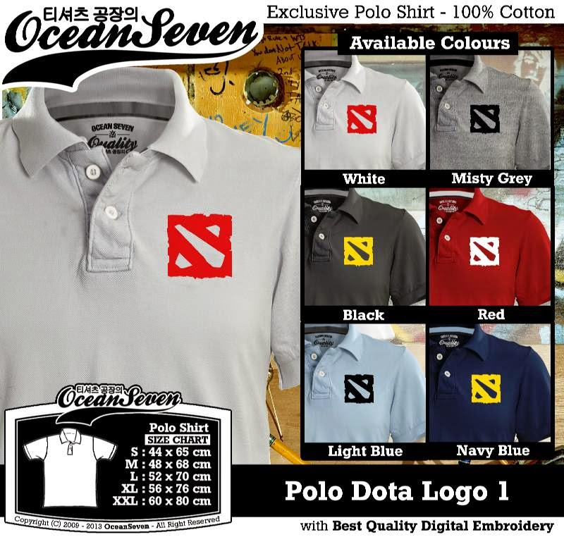 Kaos Polo Dota Logo 1