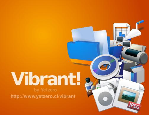 Tema ikon Vibrant SVG
