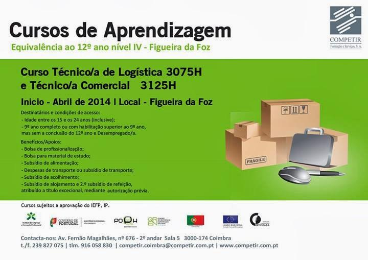 Cursos financiados com equivalência ao 12º ano na Figueira da Foz (com direito a bolsas e subsídios)
