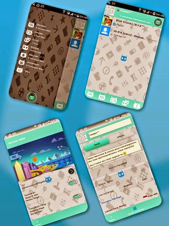 BBM Mod Cynagon Themes Version 2.7.0.23 Dual BBM Apk