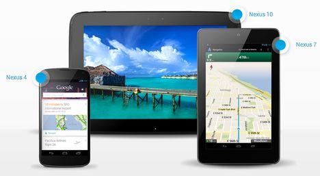 Nexus 4,Nexus 10