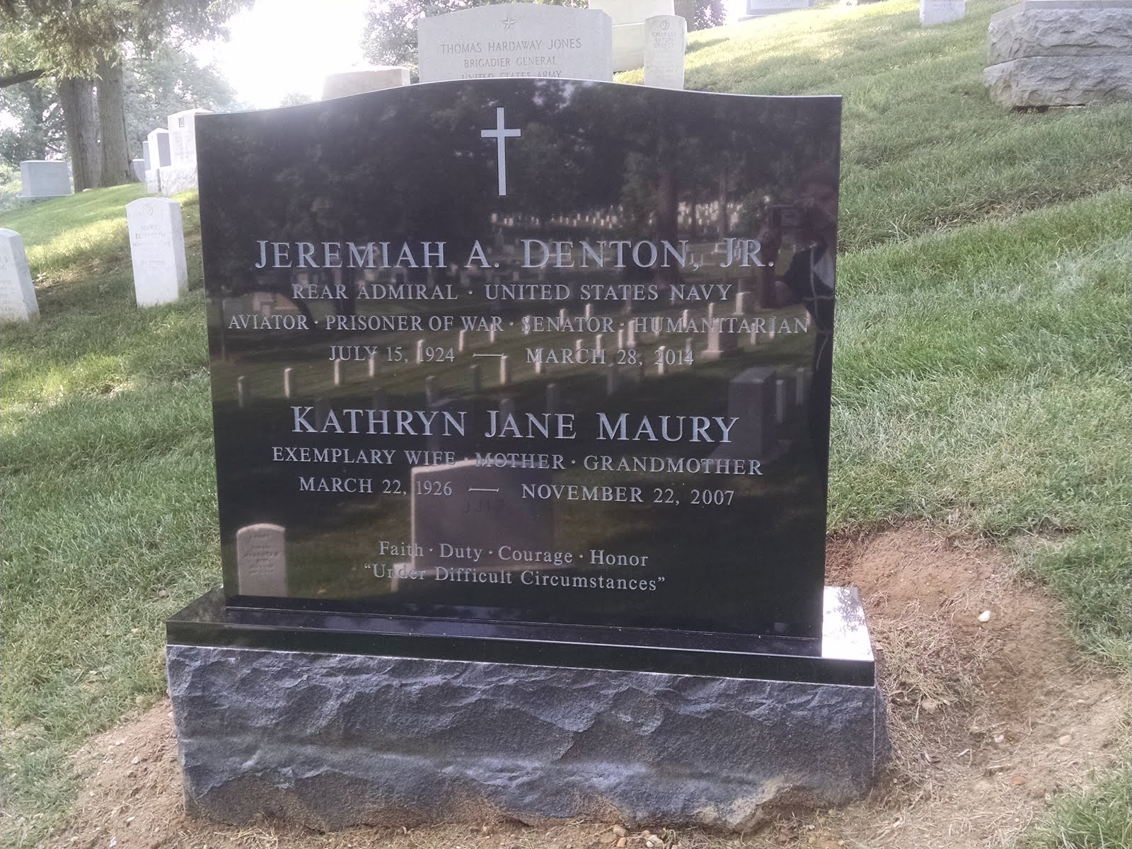 Michael made sure we got to see our parents' new gravestone.