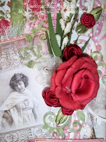 My funny creations tag french roses for Organza zakjes xenos