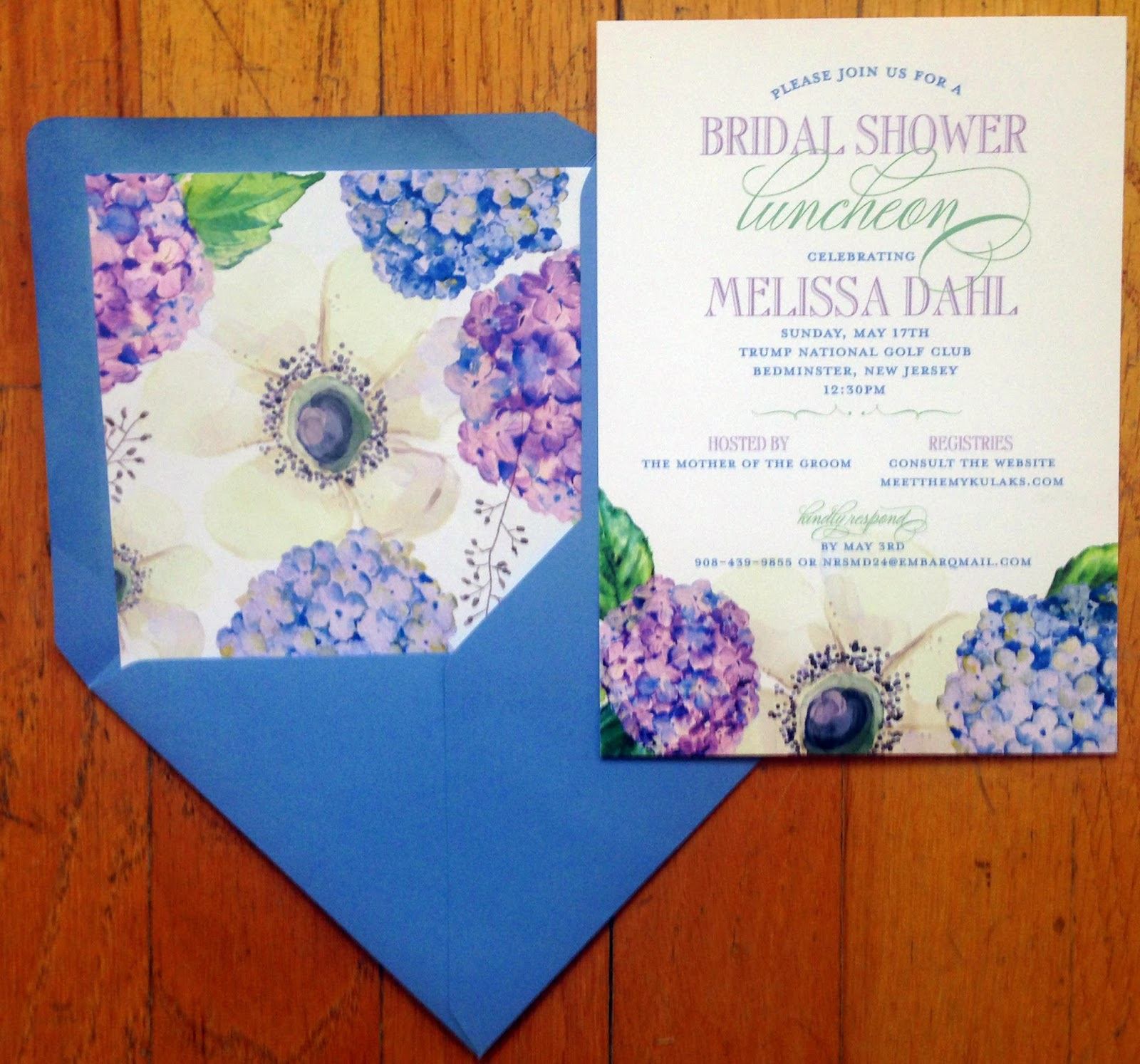 hydrangea bridal shower