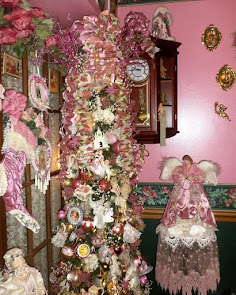 A Pink Christmas in the Dining Room, Part 1, Christmas Home Tour, 2017