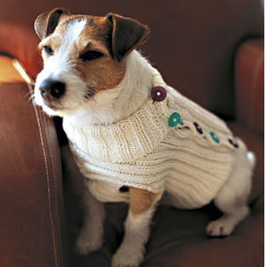 button up dog sweater knit festive snowflake dog coat knit