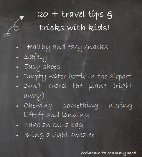 Welcome to Mommyhood: air travel tips