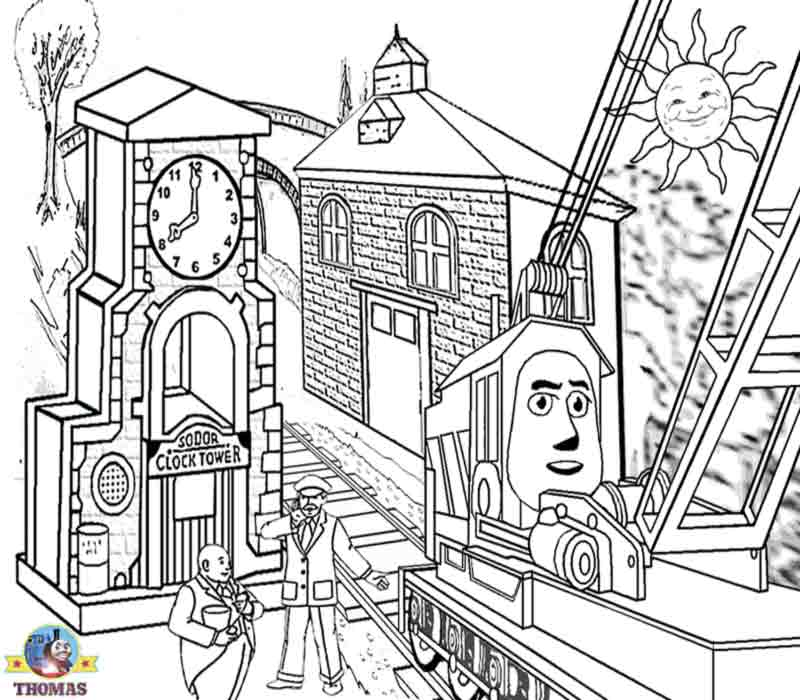 Thomas And Friends Rocky Crane Difficult Coloring Pages For Teenagers Printable Online Artwork Sheet