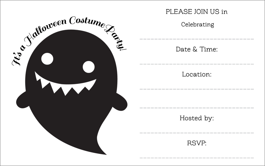 Crafty image throughout free printable halloween birthday party invitations