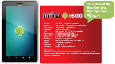 gambar mito t600 android tablet seperti halnya mito t500 yang