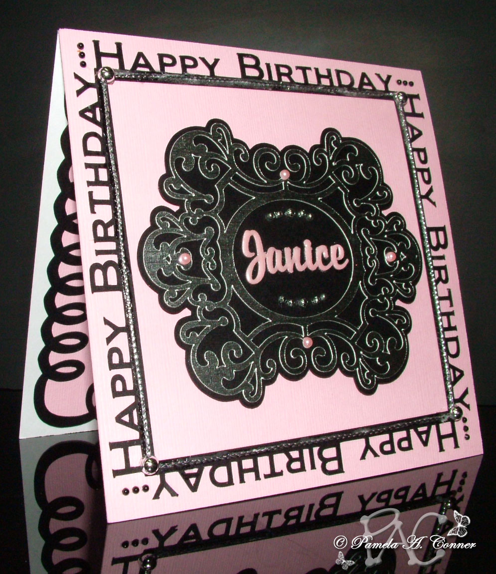 Everything On This Card Was Done Using My Wonderful Silhouette Cameo I Designed The Happy Birthday Border And Gorgeous Centerpiece Is A