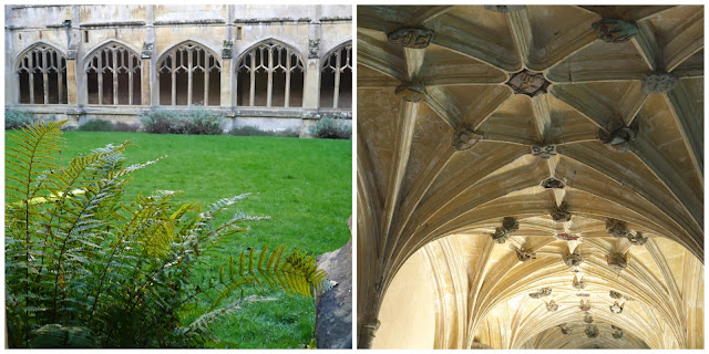 The cloisters and courtyard at Lacock