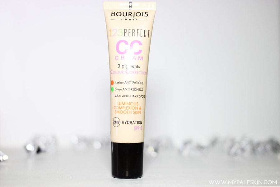Bourjois 123 perfect CC Cream, Pale Test, Swatch, My Pale Skin, Ivory, Shade 31