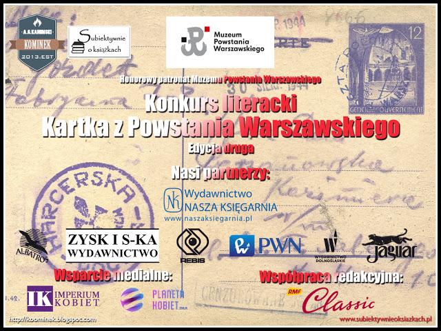 Nagroda Specjalna magazynu Imperium Kobiet w Konkursie literackim - Kartka z Powstania Warszawskiego
