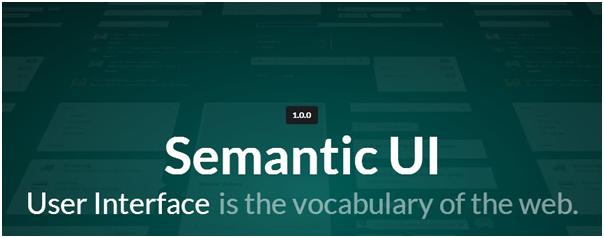 HTML5 UI Framework : Semantic UI