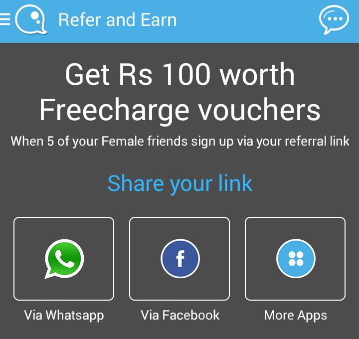 QuackQuack App Freecharge offer