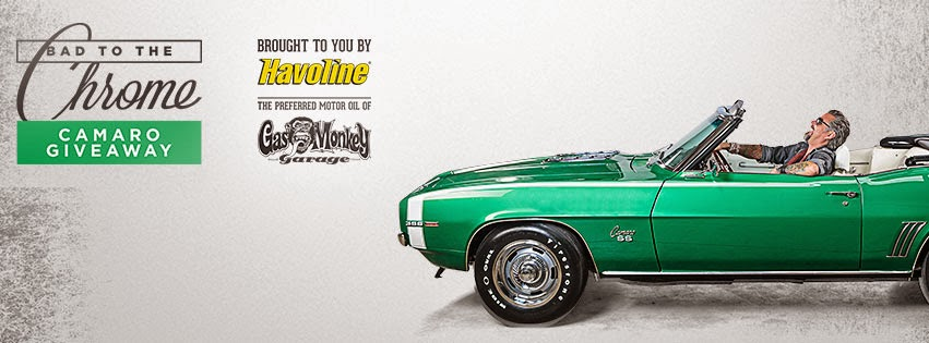 Enter The Bad to the Chrome Camaro Giveaway Brought to You by Havoline.