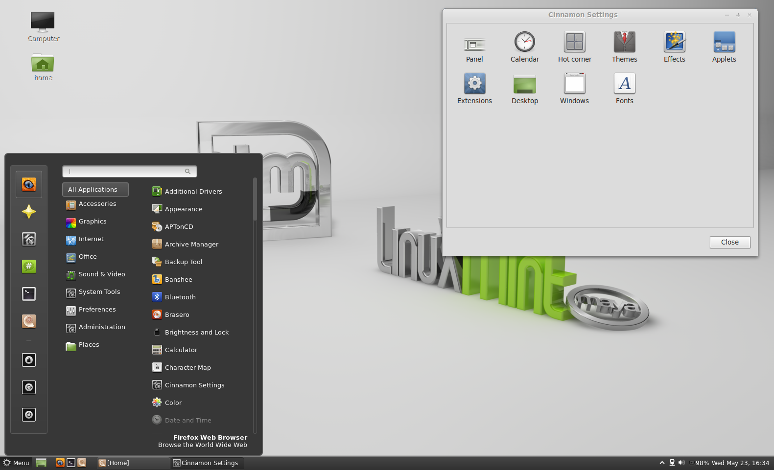 Linux mint 13 mate edition mint menu now works with mate desktop linux