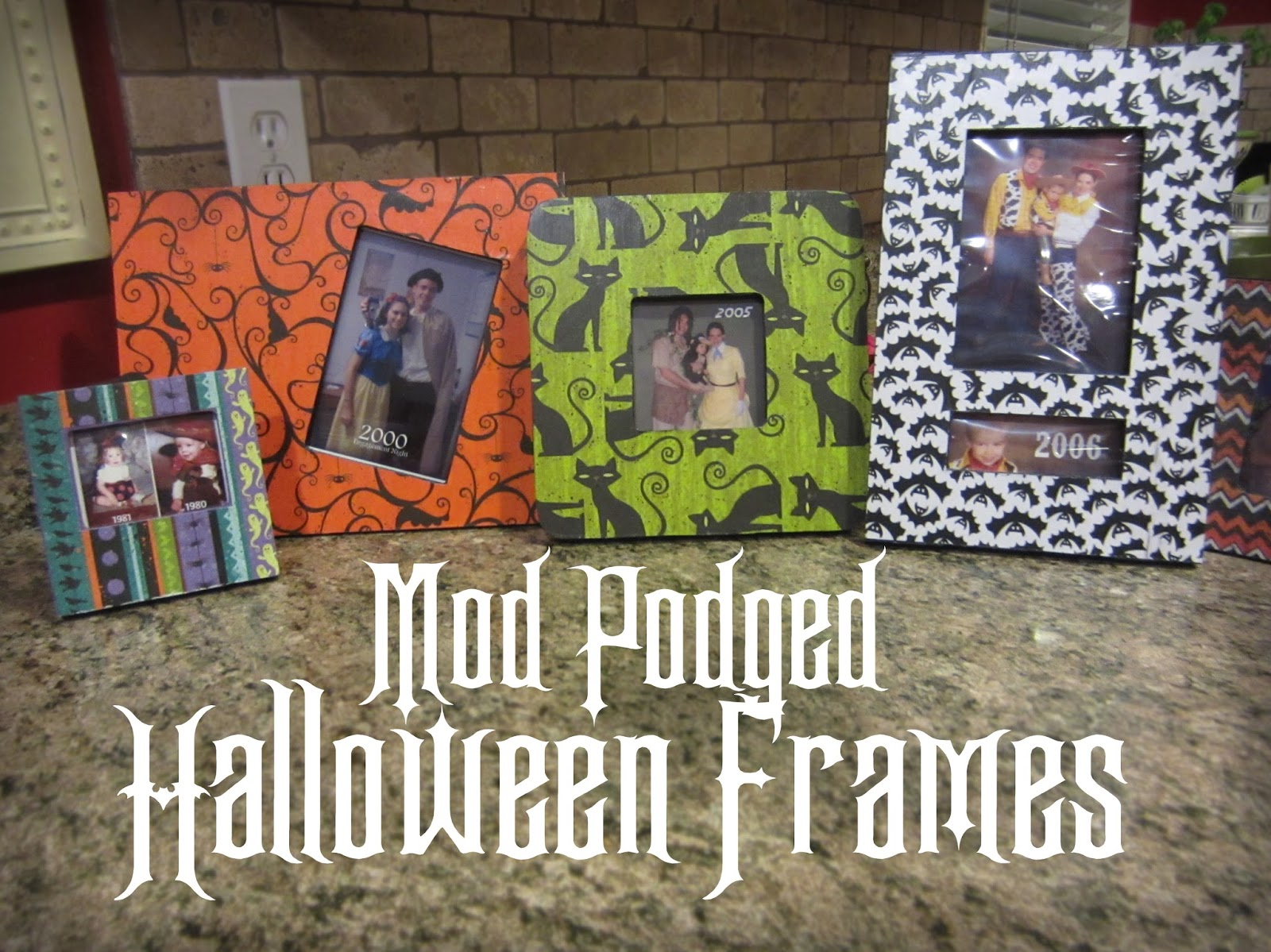 Craft phesine mod podged halloween frames jeuxipadfo Choice Image