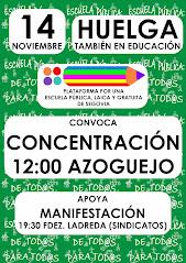 CONCENTRACIÓN AZOGUEJO HUELGA GENERAL 14N