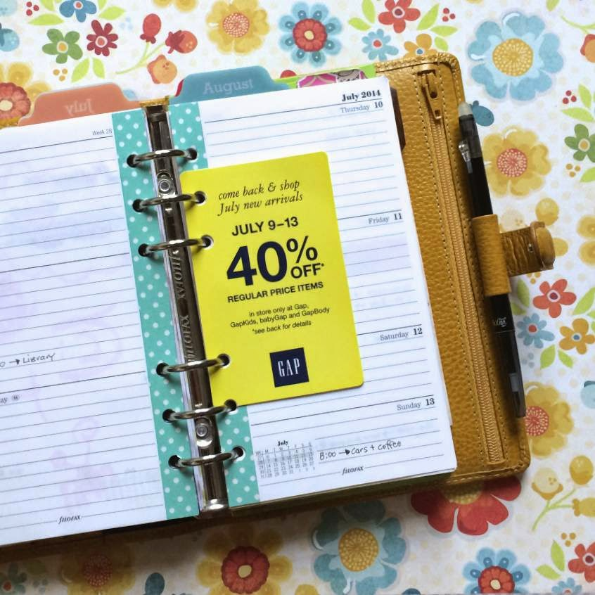 Organizing Coupons in your Filofax Planner | iloveitallwithmonikawright.com