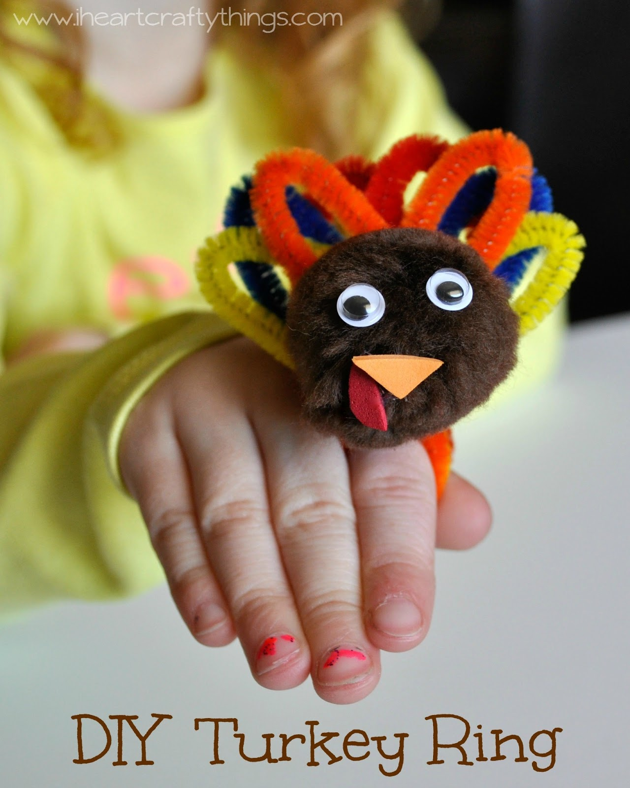 DIY Turkey Ring - I {heart} Crafty Things