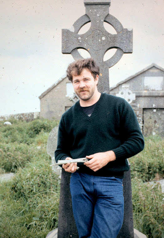 Kevin J. O'Brien in Killernan Graveyard, County Clare, Ireland June 1981